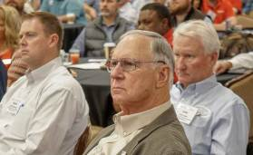 Contractor Larry Taylor listens to a speaker at the ACCA Leadership Conference. - The ACHR News