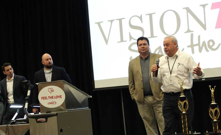 Lennox dealers, contractors, and executives speak at the 9th annual Lennox VisionTECH conference. - The ACHR News