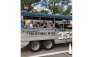 Participants were chartered to the dock in WWII authentic duck boats.