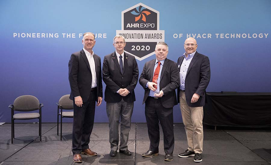 The Danfoss CO2 Adaptive Liquid Management (CALM) Solution received the AHR Expo Product of the Year award.