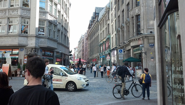 A street scene of Leipzig, Germany, the city where WorldSkills 2013 was held.