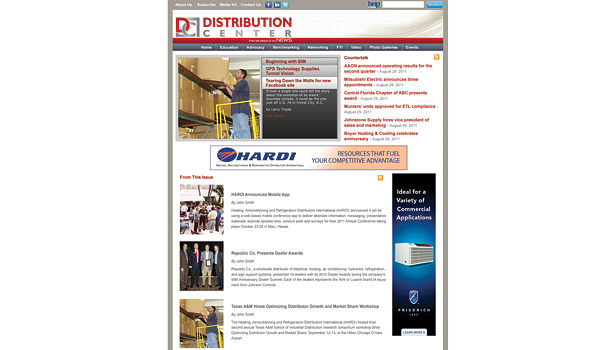 Distribution Center homepage