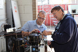 HVAC instructor Kevin Livingston