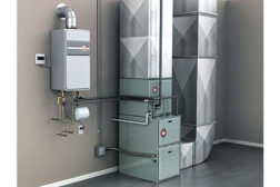 Integrated HVAC Water Heating