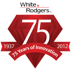 White-Rodgers 75th anniversary logo