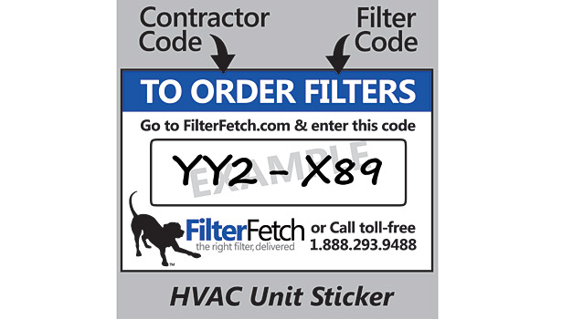 Filter Fetch HVAC Unit Sticker