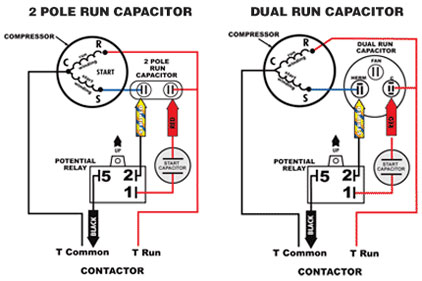 Hard Start Capacitor Start Run Capacitor Wiring Diagram - Wiring ...