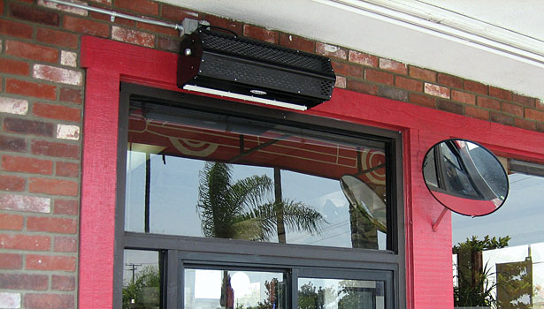 Air Curtain Drive Thru
