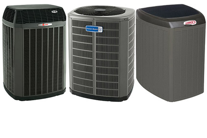 array of heat pumps