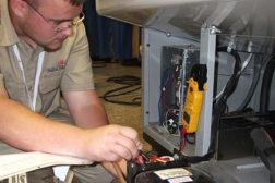 servicing a refrigeration unit