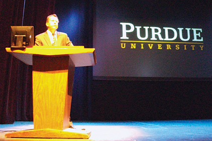 Eckhard Groll, general chair of the 2012 Purdue Conferences