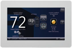 wireless-enabled touch-screen thermostat