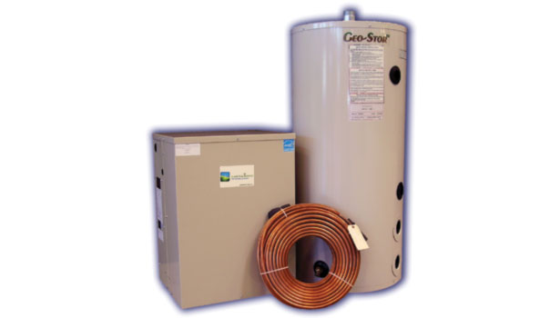 GeoExchange with split system heat pump