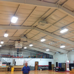 LG Flex Multi-Quad Zones installed in gymnasium