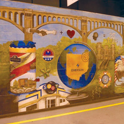 mural in honor of 25th anniversary of Copeland Scroll