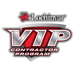 Lochinvar VIP contractor program logo