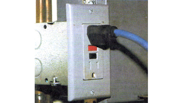 ground fault interrupter (GFI) receptacle