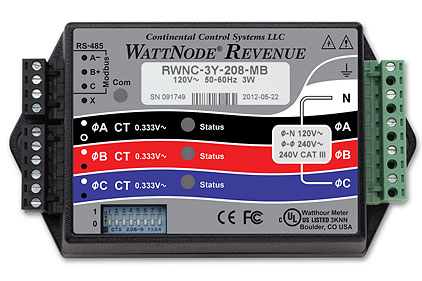Continental-Control-WattNode_Revenue_Straight_On