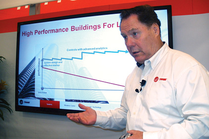 Eugene Smithart of Trane provides a presentation on building commissioning
