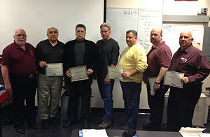 Six North Jersey chapter members of RSES are honored