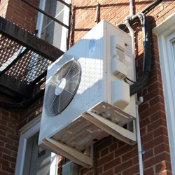 Mitsubishi Electric ductless heat pump system