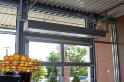 Fortunes Coffee Roastery in Pittsburgh uses Berner's Zephyr air curtain to increase foot traffic and sales.