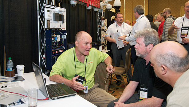 The Honeywell Momentum tradeshow was a popular place for contractors to get their hands on new products.