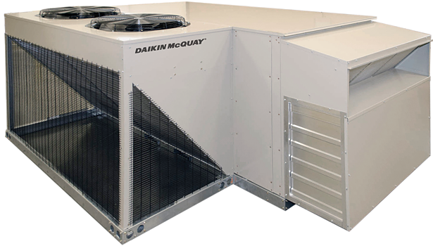 Daikin McQuay Rebel package rooftop cooling and heat pump with energy recovery wheel
