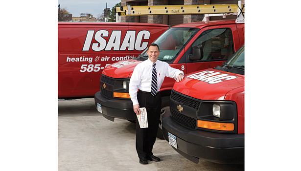 Ray Isaac of Isaac Heating and Air Conditioning, Rochester, N.Y., has instituted a safe driving policy that restricts employees from using any handheld communication device while the vehicle is in gear.