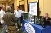 In between sessions, members of the Chiller Systems Group check out products.
