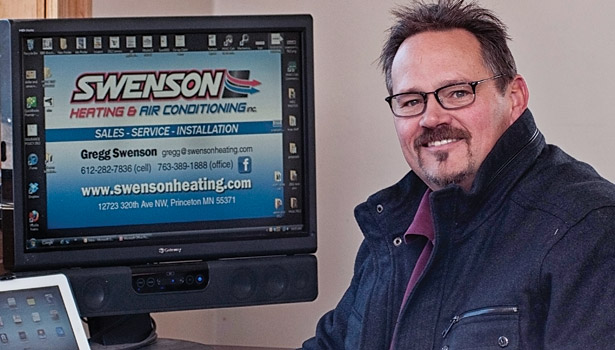 Gregg Swenson has offered heat pumps for seven years, in response to customers in his area who use LP gas or fuel oil.