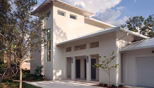 A newly built residence in Florida has projected total annual energy costs (with solar) of -$123, which makes the home a zero net-energy usage structure.