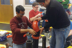 Hands-on training events provide the ultimate classroom experience. (Courtesy of Victaulic)