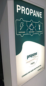 Natural refrigerants such as propane are drawing increasing attention as with this booth display by Embraco at the AHR Expo in Dallas and with its evaluation in an AHRI report.