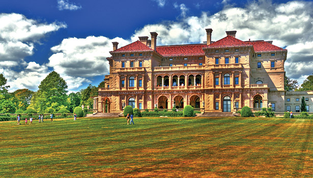 The prestigious Breakers is a Vanderbilt mansion, located on Ochre Point Ave. in Newport, R.I.