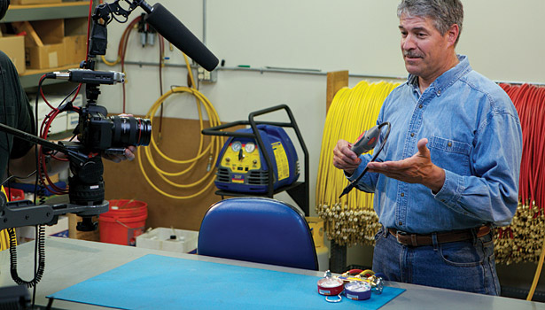 Paul Ryan walks through gas and pressure testing, profiling the Yellow Jacket H2 detector in one of the company's quick tip training videos. (Courtesy of Ritchie Engineering Co.)