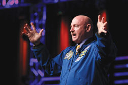 Captain Mark Kelly discussed how perseverance has helped him overcome various personal and professional obstacles during the Mechanical Contractors Association of America's (MCAA) annual convention.