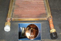 All-copper brazed heat exchanger with thin-wall multichannel coils. (Photo courtesy of Russ College of Engineering and Technology at Ohio University)