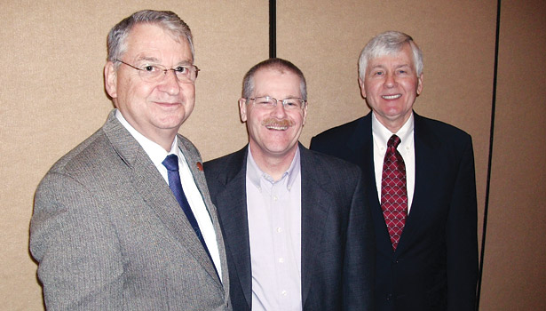 Key personnel in the IIAR transition are, from left, Bruce Badger, who is retiring as president this June; Bob Port, who will serve as chairman until March 2014; and David Rule, who becomes president upon Badger's retirement.