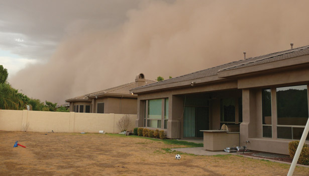 Hot, dry conditions in the Southwest will require contractors and technicians to be prepared for dust storms, officially known as haboobs.