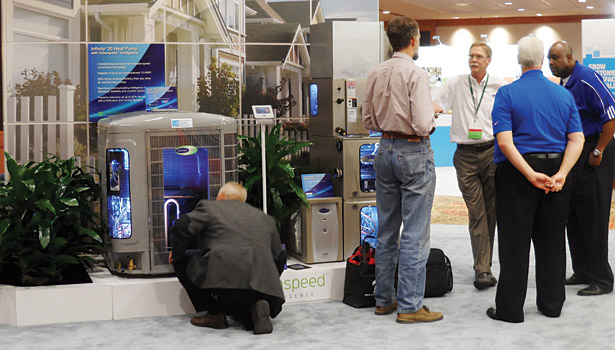 Trade show attendees took the opportunity to ask manufacturers about creating healthy, comfortable homes and ensuring global sustainability.