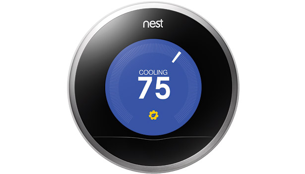 The Nest Learning Thermostat features a sleek, round design and user-friendly interface created to appeal to a more tech-savvy clientele. (Photo courtesy of Nest)