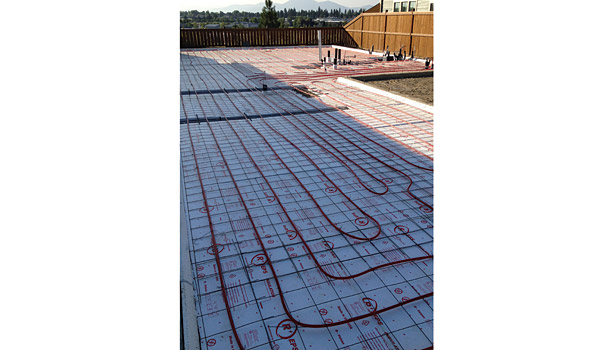 All homes in Meadow Ranch have radiant heat, to improve comfort, as well as eliminate the amount of dry air blowing around in the homes.
