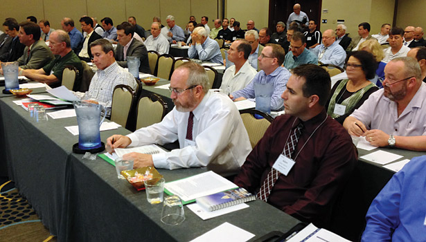 HARDI members listen to a legislative update at the Hyatt Regency on Capitol Hill.