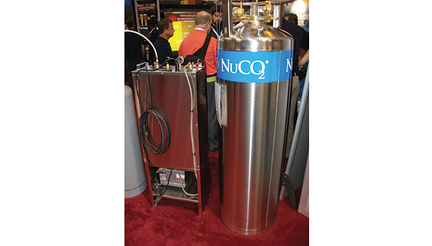 The focus on CO2 in carbonation is reflected in this display at NRA from NuCO2.