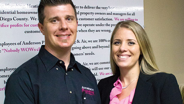 Mary Jean Anderson's son and daughter, Kyle and Kelly Jo Anderson, pictured here, help Mary Jean run the family business.