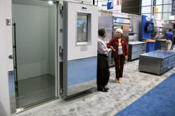 Walk-ins were recurring products throughout the floors at the NRA show, such as this model from Bally.