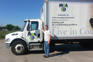 M&A Supply Co. truck