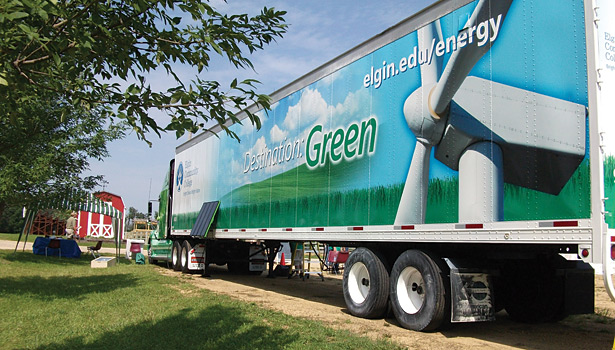 Elgin Community College has taken its emphasis on environmental issues on the road.