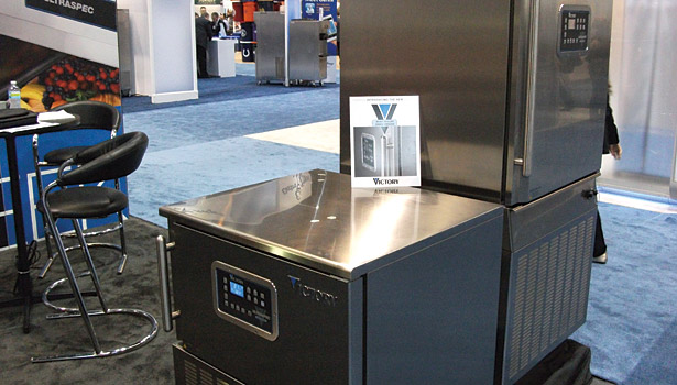 Electronic controls for a blast chiller were the focus of Victory Refrigeration at the NRA show.